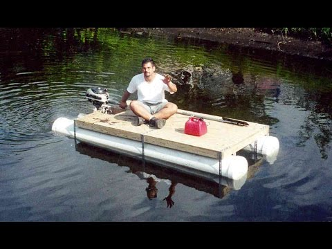 Diy Pvc Pipe Pontoon Boat Homemade Boat In 1 Day